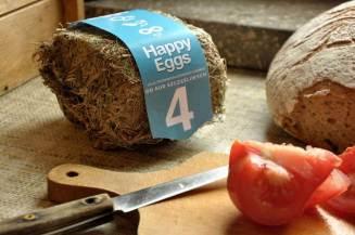 Happy Eggs heat pressed hay egg carton