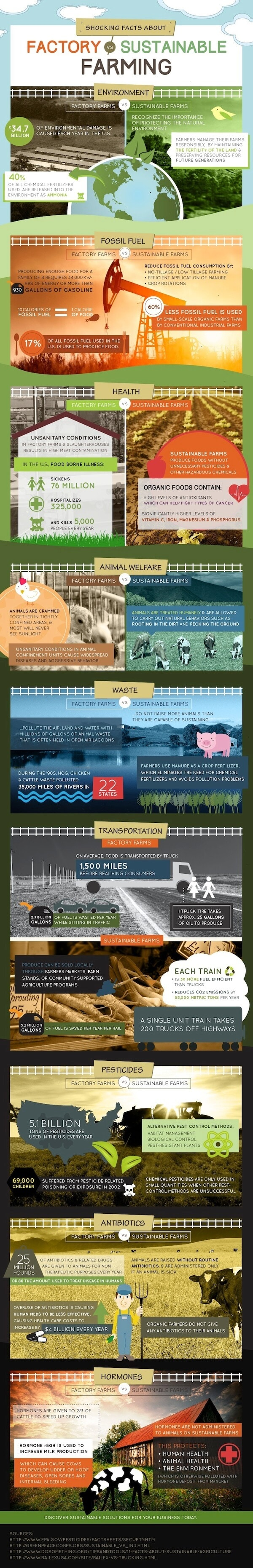 Factory farming infographic