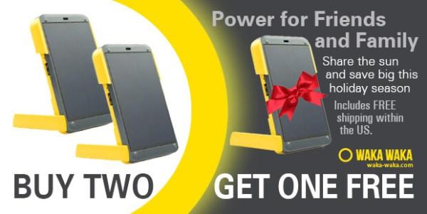 Giveaway Wakawaka Power Solar Smartphone Charger