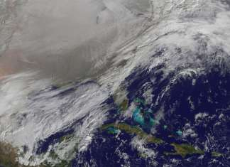 polar vortex from space