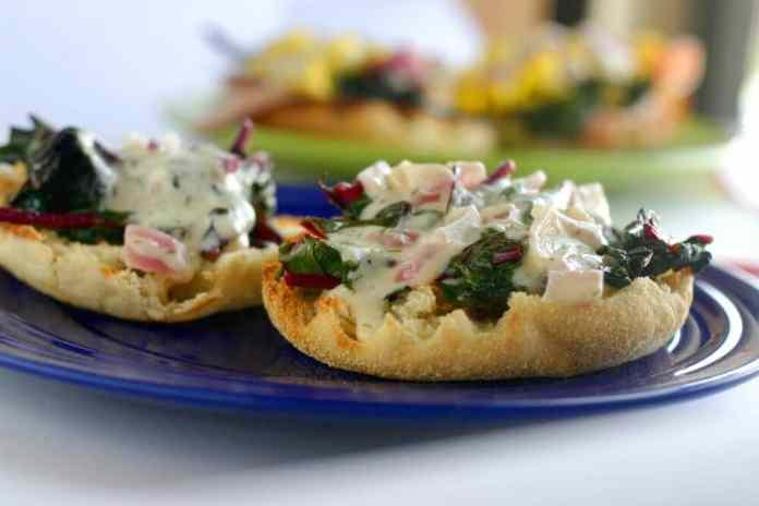 Swiss chard sandwich