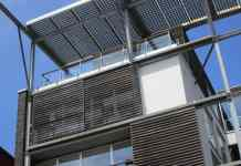 solar panels on building