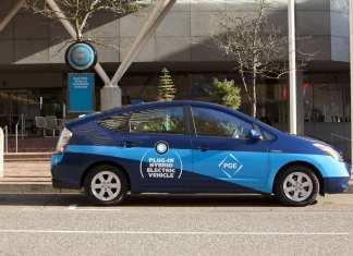 Toyota Prius charging on street
