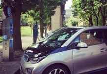 electric car charging in portland
