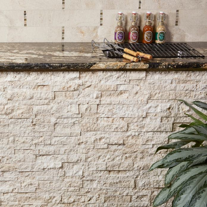3D Mesh Mount Stack of natural stone by arizona tile
