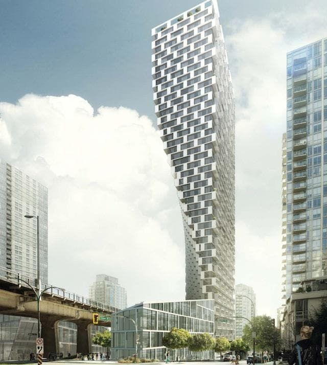 Twisting tower Vancouver Bjarke Ingels