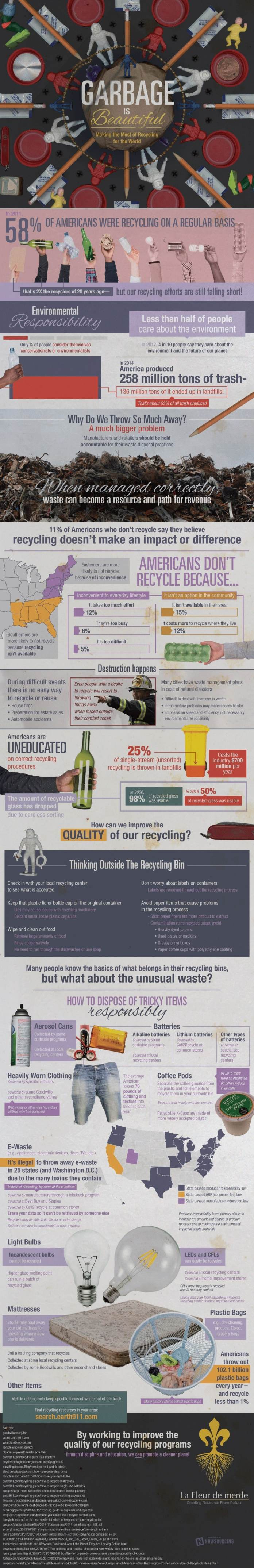 garbage is beautiful infographic