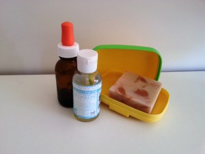 Almond oil, castile soap refill and soap
