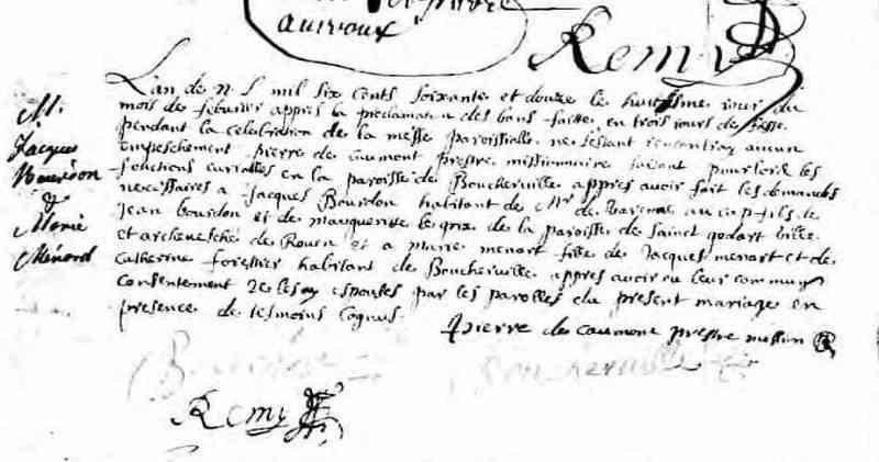 Jacques BOURDON (5 June 1645-7 August 1724) Généalogie