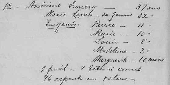 Antoine EMERY dit CODERRE (16 August 1643-10 February 1716