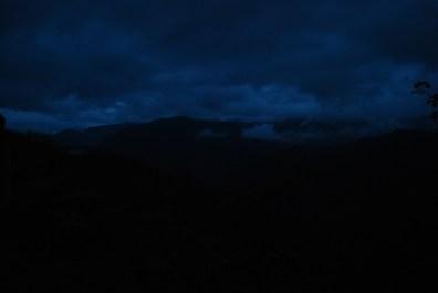 A dark cloudy night arrives
