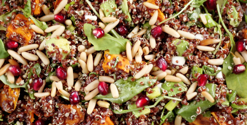 Sweet Potato Salad with Quinoa and Pine Nuts