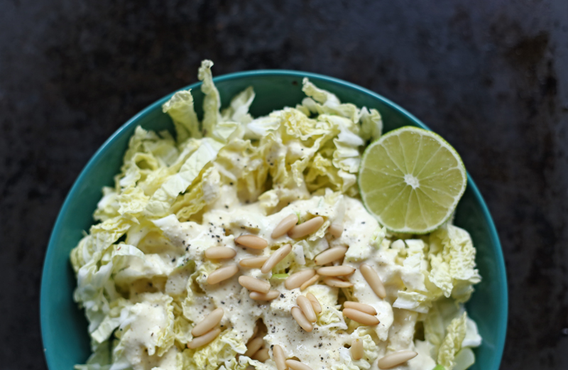 Vegan Caesar Dressing with Pine Nut
