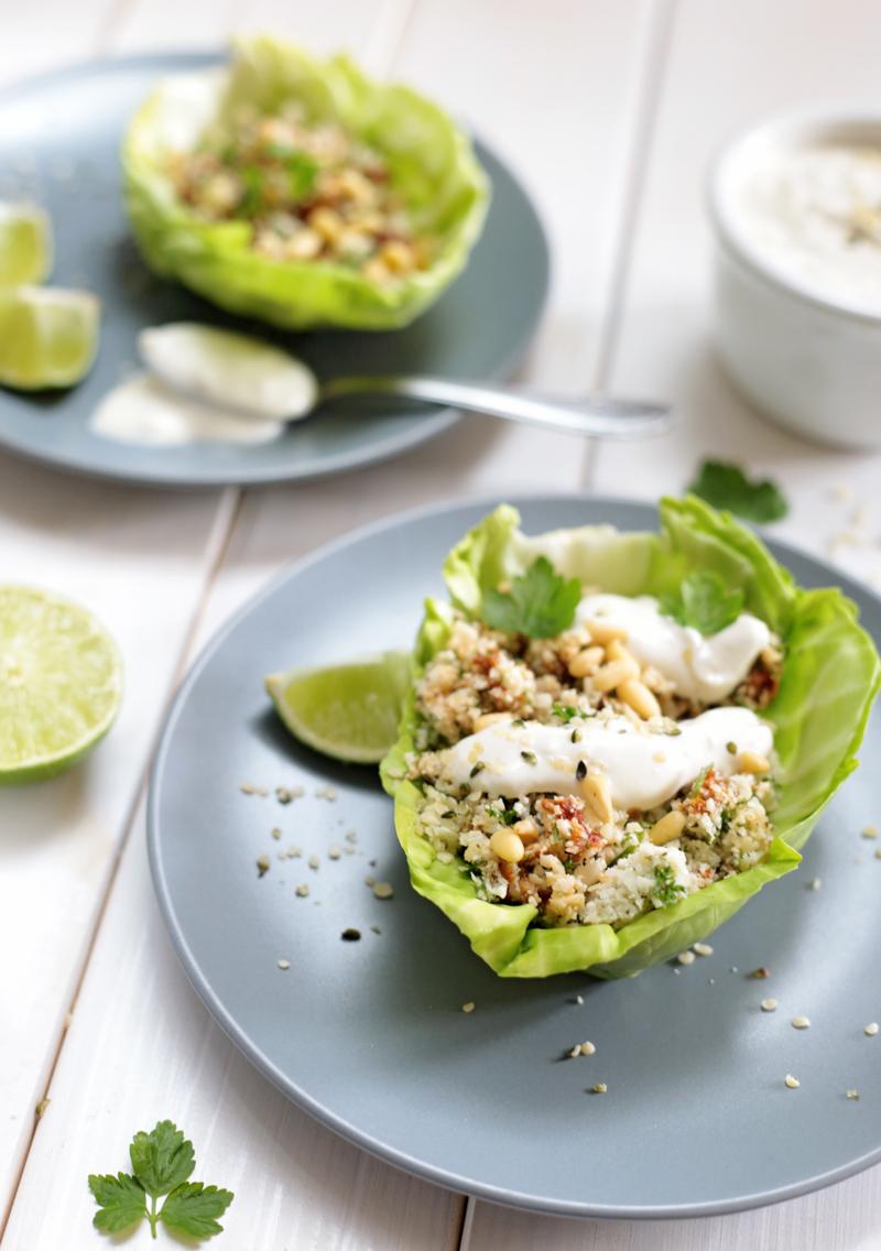 Raw Cauliflower Cabbage Bowls