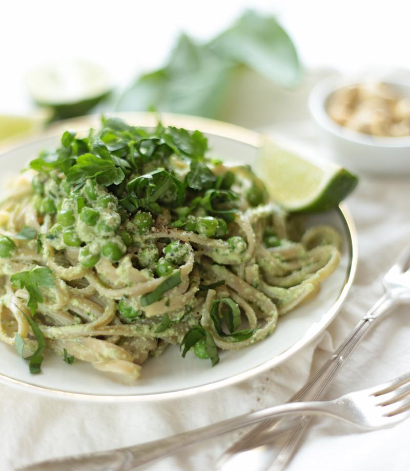 Creamy Wild Garlic Spring Pasta