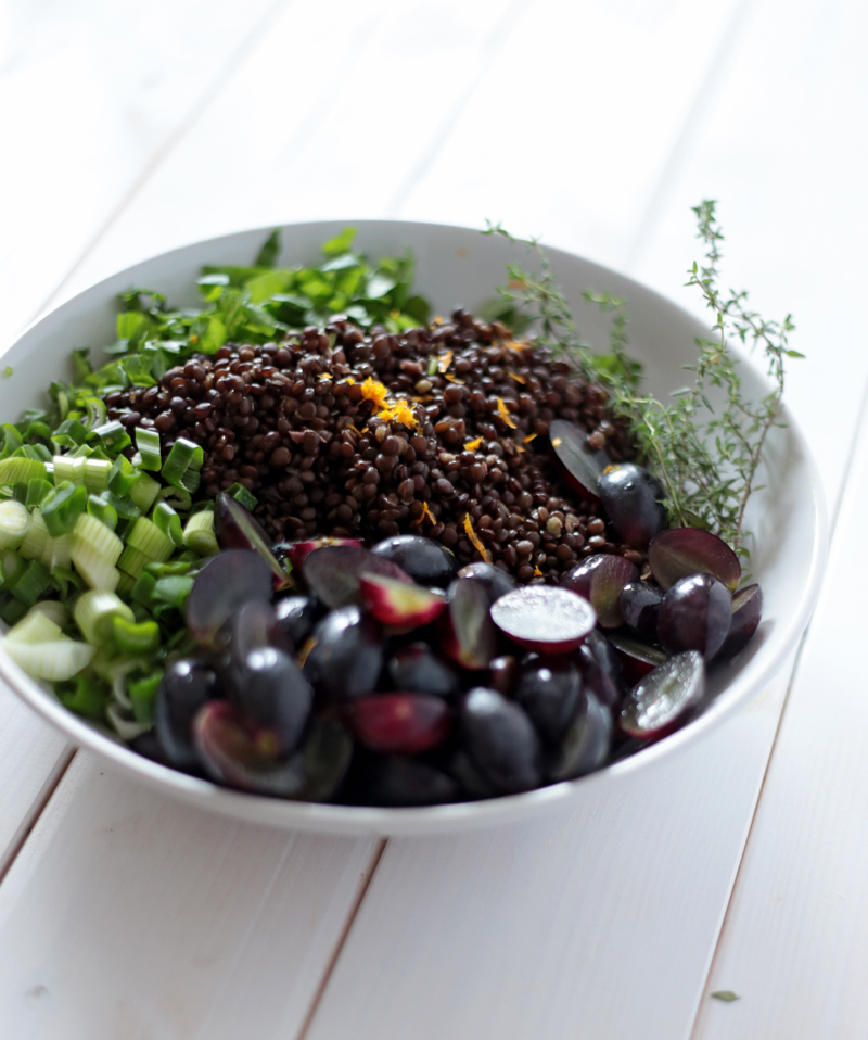 Beluga Lentil Salad With Grapes Green Evi