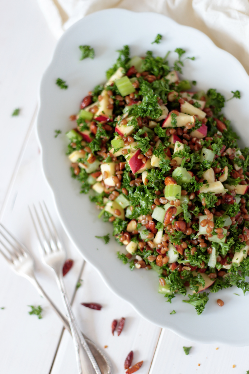 Wheat Berry Salad with Apple and Parsley