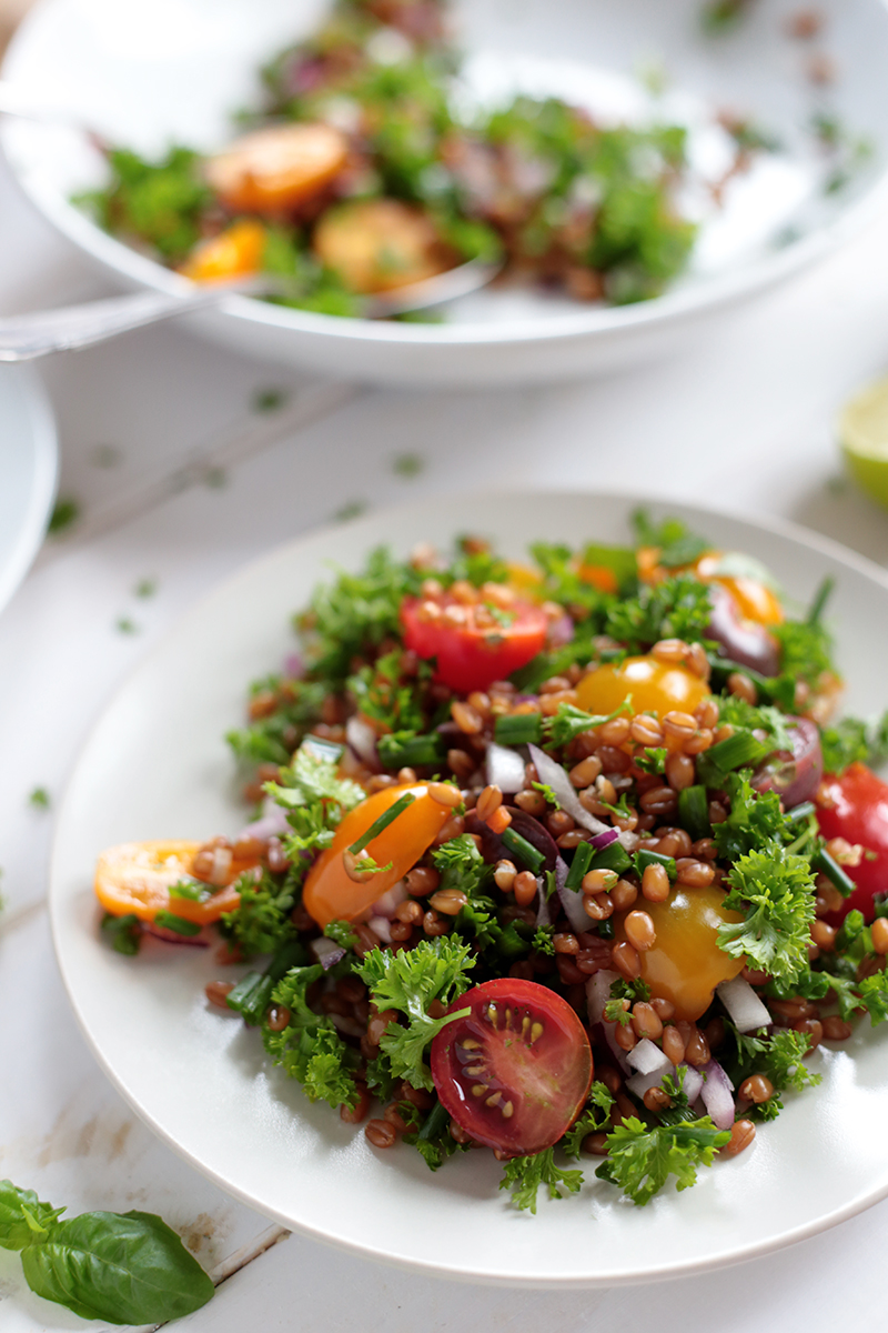 Wheat Berry and Cherry Tomato Salad