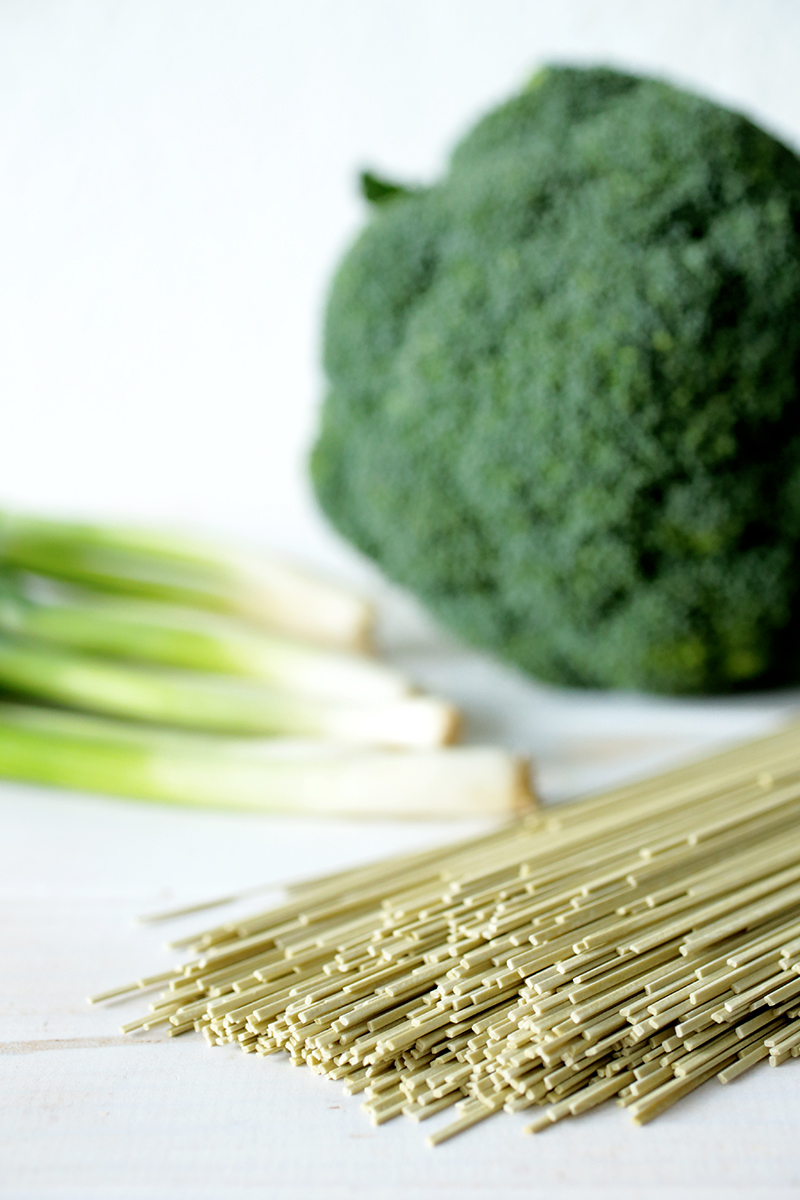 Ginger and Green Tea Soba Noodle Salad with Broccoli