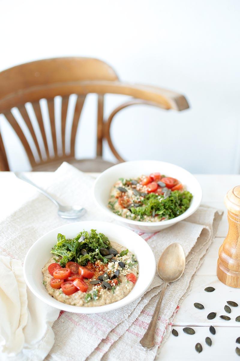 Red Pesto and Kale Porridge • Green Evi