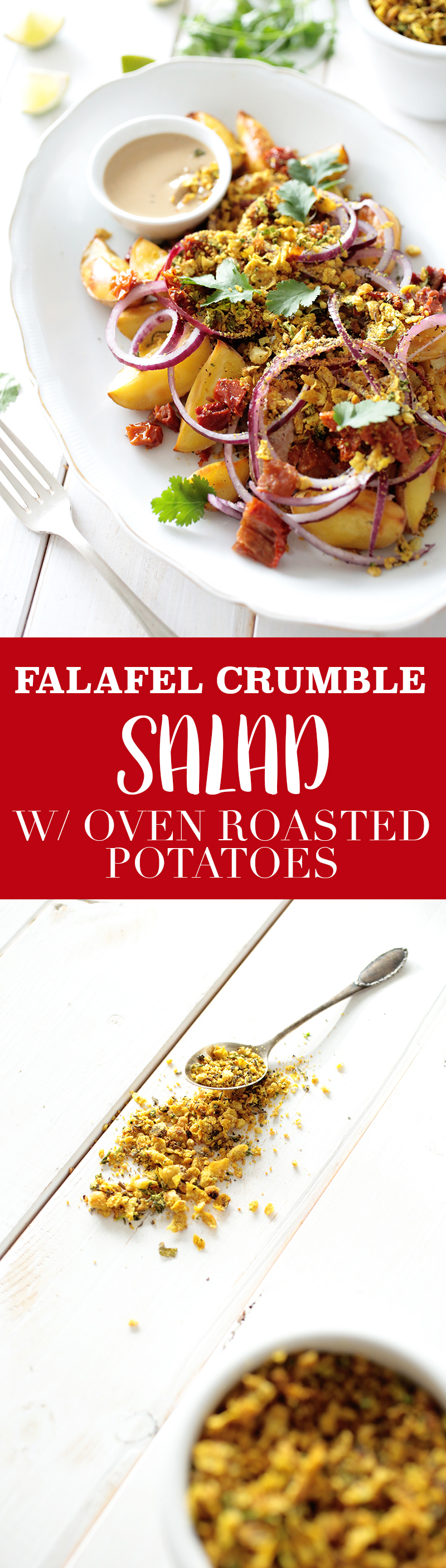 Potato and Falafel Crumble Salad