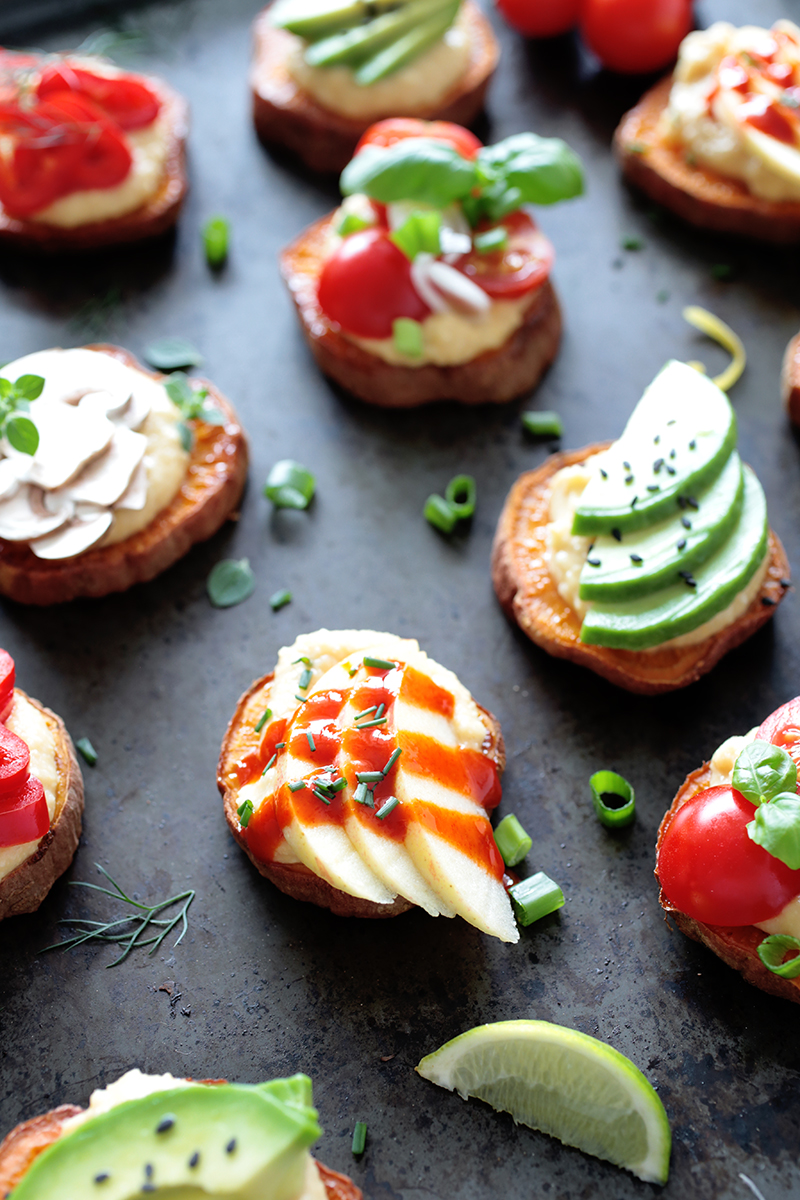 Loaded Baked Sweet Potato Bites (V+GF)