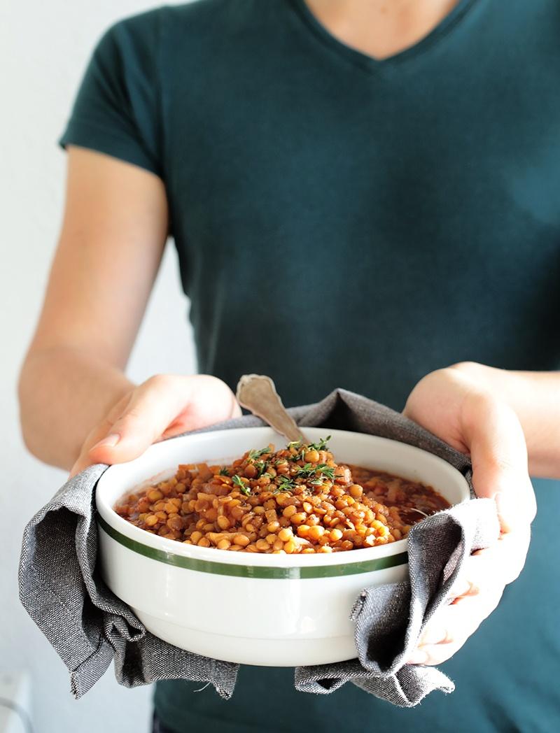 Simple Vegan Balsamic Lentil Stew
