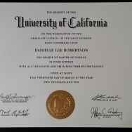 UC Davis Food Science Master's Degree