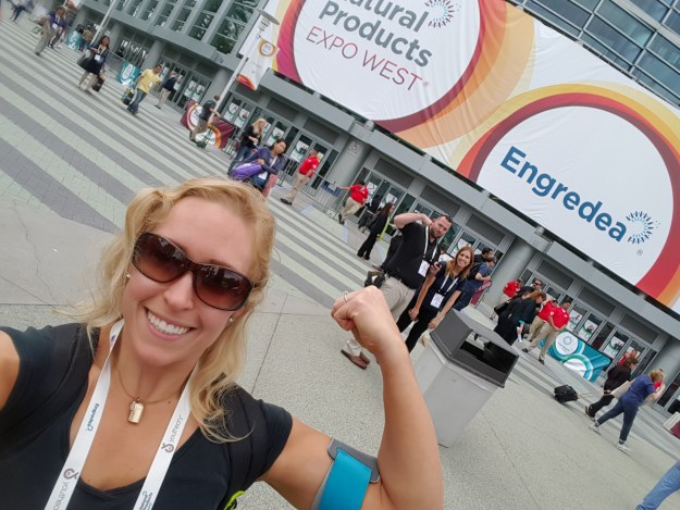 Leaving the expo feeling accomplished, with heaps of new products to review!