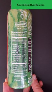 WTRMLN WTR Nutrition Facts and Ingredients - GreenEyedGuide Energy Drink of the Month June 2016