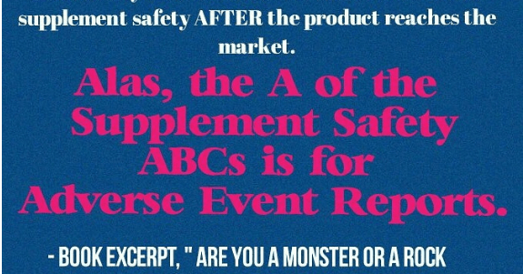 Book Excerpt of the Week: The A in the Supplement Safety ABCs
