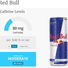 red bull caffeine content - caffeine informer
