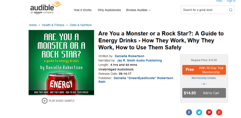 energy drink book on audible