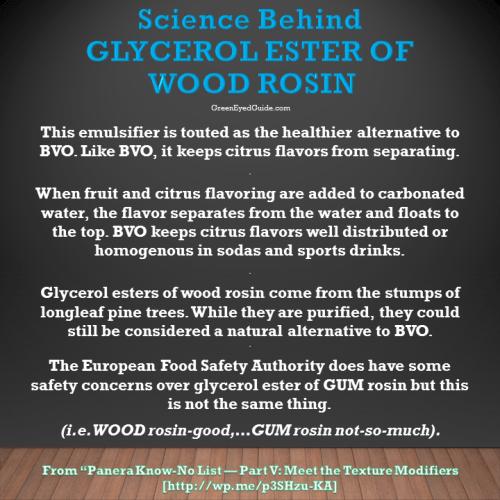 Science Behind Glycerol Ester of Wood Rosin