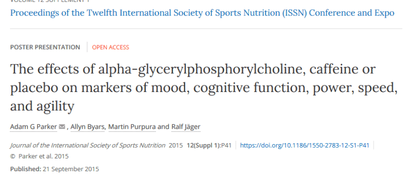 Energy Drinks in the News – The effects of Alpha-GPC versus caffeine on mood, cognitive function, and performance