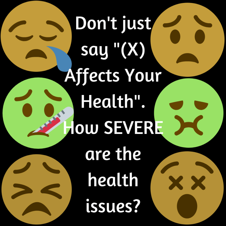 How SEVERE are the health issues