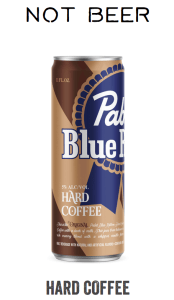 "PBR Hard Coffee - ""Not Beer"" according to PBR website"