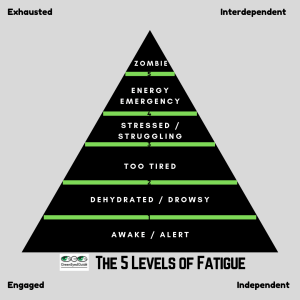 GreenEyedGuide's 5 Levels of Fatigue