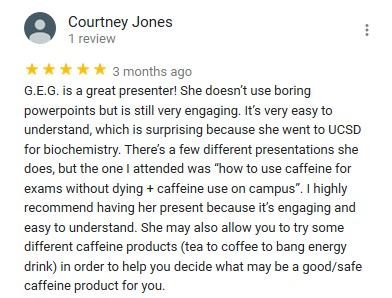 5 star review for GEG - Courtney