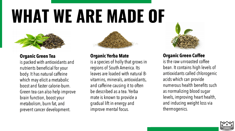when is green tea an energy drink - marquis ingredients