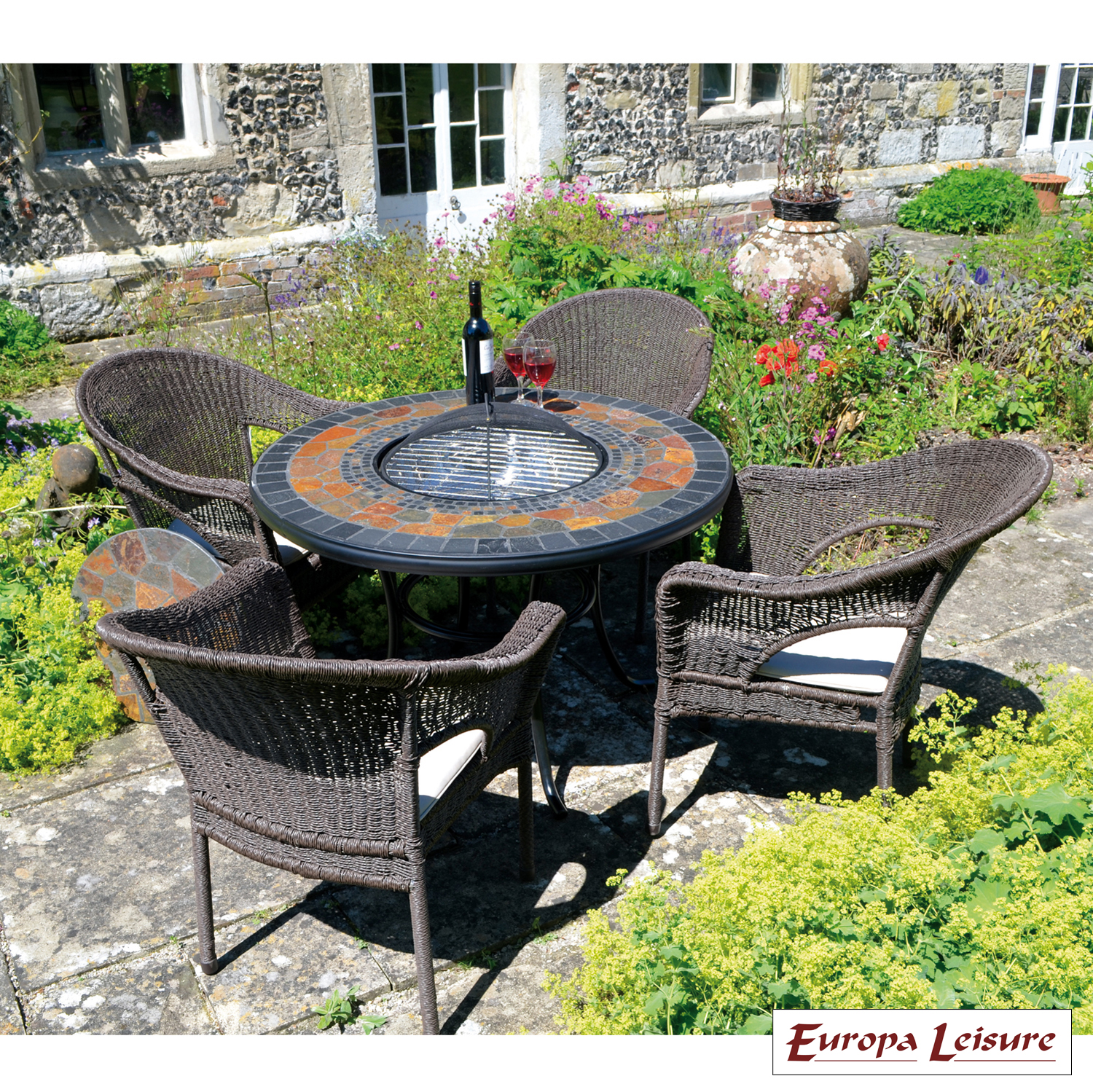 Firepit Chairs Durango Tall Firepit Table With 4 Woburn Chairs