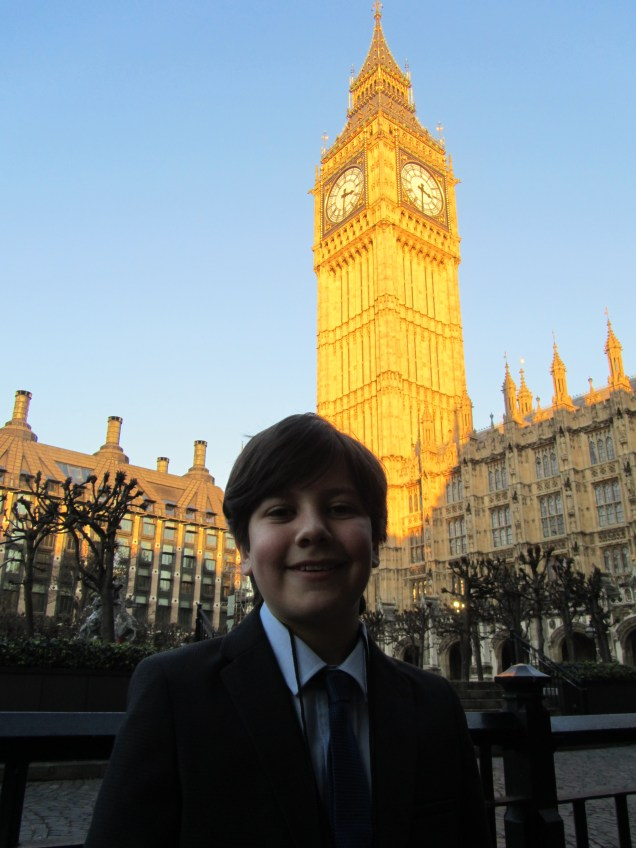 Giving a speech at the Houses of Parliament