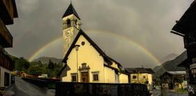 Peaio (Bl) 14.5.15 - 7.00pm Arcobaleno doppio completo- arcobaleno soprannumerario.