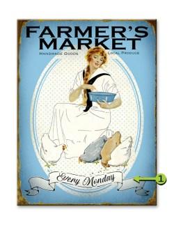 Farmers Market Vintage Sign