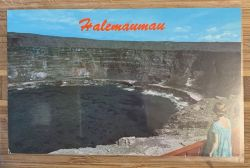 Lookout at Halemaumau postcard