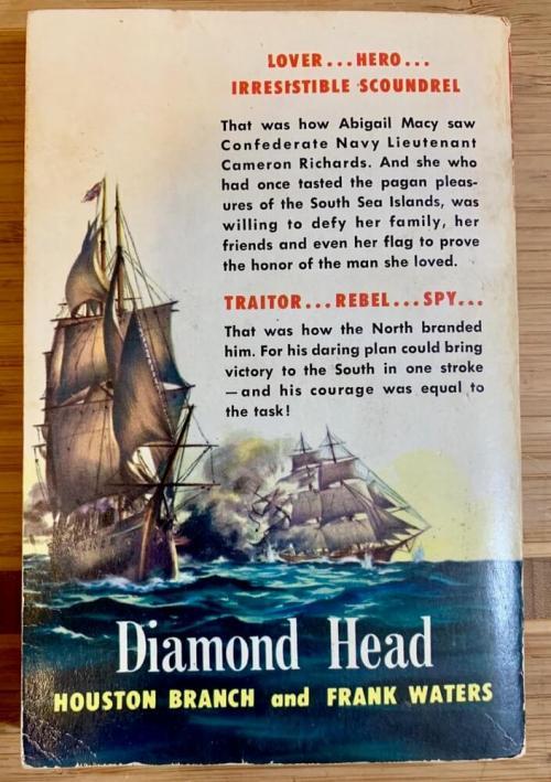 1950's Civil War Adventure Book back cover