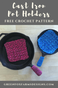 Cast Iron Pot Holders - Free Crochet Pattern  Green Fox ...