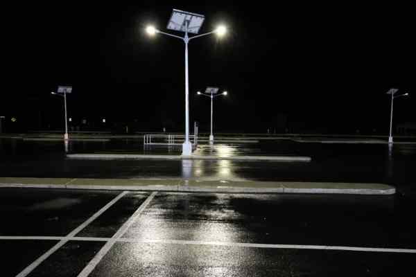 solar street lighting twin head mount compass IGA
