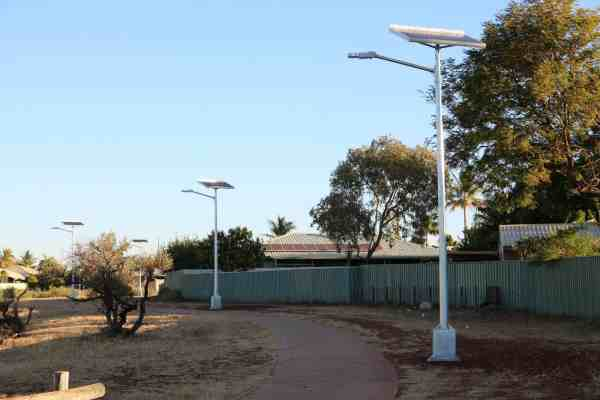 Region D cyclone rated solar street light