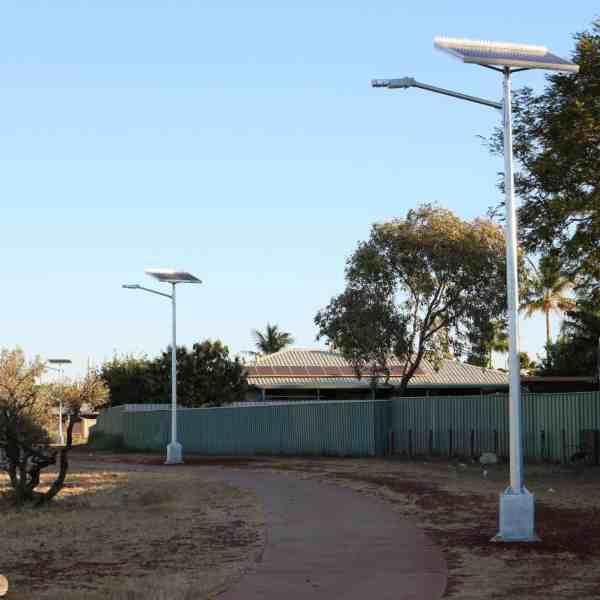 Region D cyclone rated solar street light